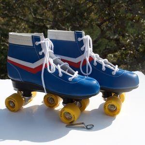 Chicago Roller Skates New Blue Red White 6 or 8